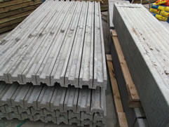 A small section of our concrete post range